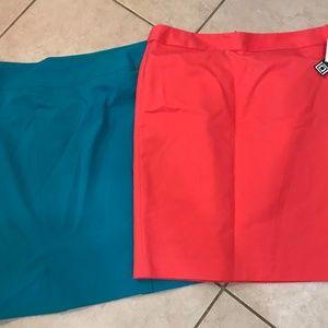2 Liz Claiborne knee length skirts size 14